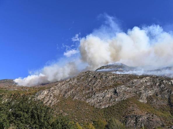 In Lombardia cinque incendi attivi