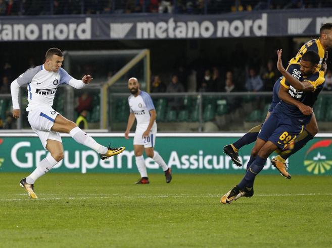 L'Inter stende il Verona  Borja e Perisic vanno a segno e  i nerazzurri tornano secondi