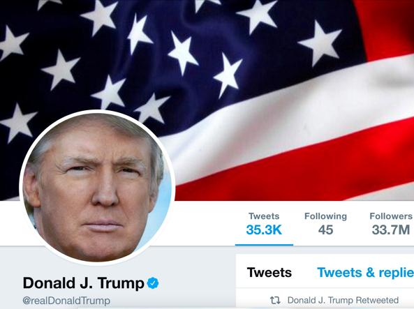 Donald Trump su Twitter, account sospeso per undici minuti