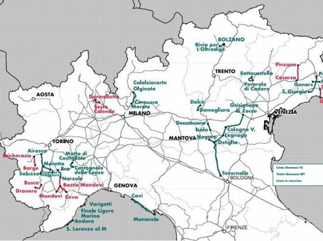Pedalando sulle vecchie ferrovieI percorsi unici da Nord a Sud