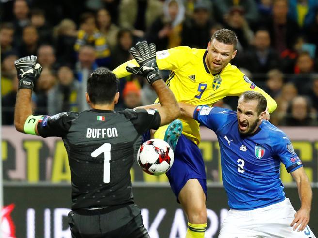 Svezia-Italia 1-0, Mondiale più lontano. Ventura: «Sconfitta immeritata». E critica l'arbitro