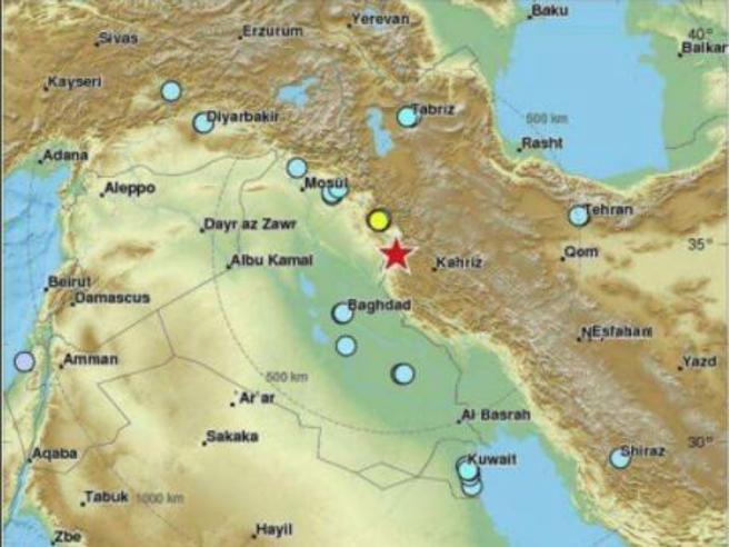 Iran, terremoto  di magnitudo 7,2 al confine con l'Iraq: 339 morti e 2530 feriti