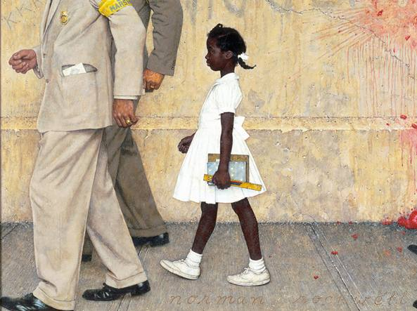 Il quadro di Norman Rockwell, «The Problem We All Live With»