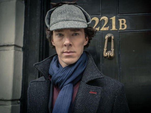 Benedict Cumberbatch nella serie tv «Sherlock»