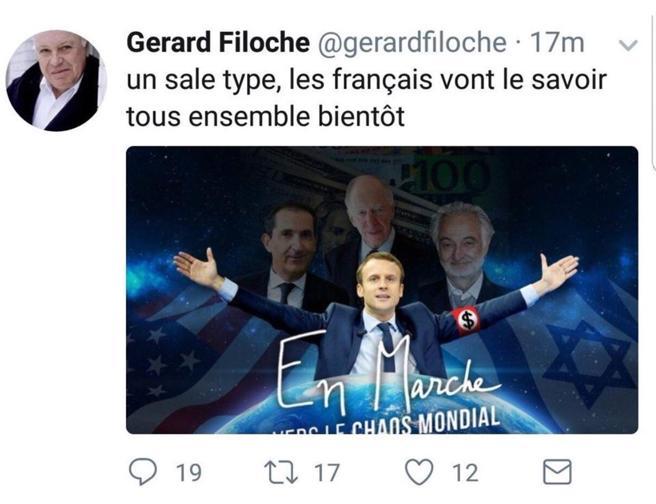 Bufera in Francia per il tweet antisemita su Macron