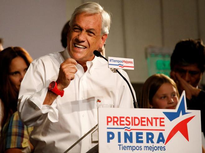 Cile, Piñera vince il primo turnoAl ballottaggio sfiderà Guiller