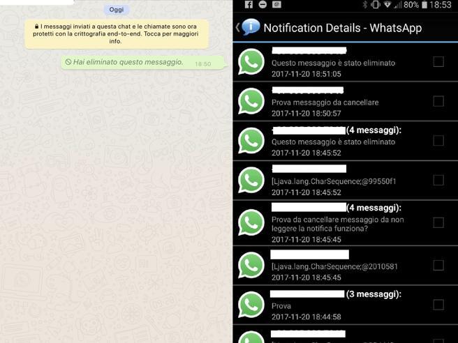 WhatsApp, i messaggi cancellati si possono recuperare