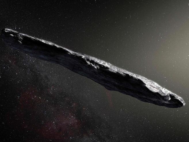 L'asteroide che viene da lontano e pare il monolite di Odissea 2001