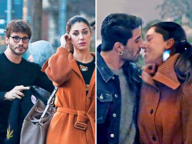 Belen Rodriguez divisa fra due uomini: alla recita con Stefano, poi i baci con Andrea