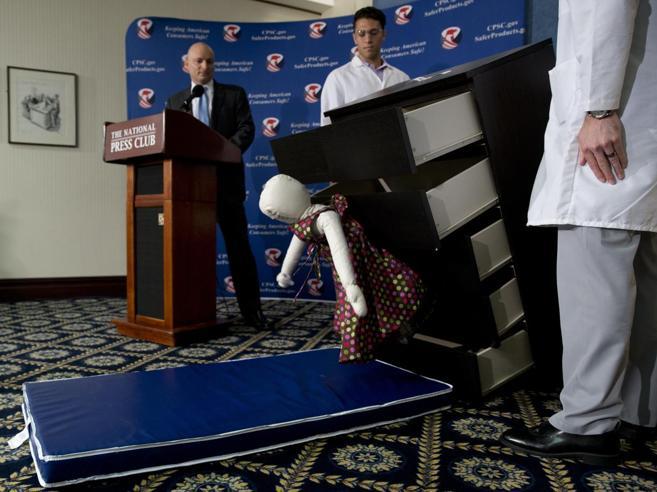 Ikea ribadisce il  ritiro di 29 milioni di cassettiere Malm in Usa e CanadaEcco come cade: il test