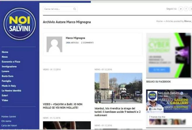 Ecco l'attivista   che somministrava false notizie  ai siti pro Lega e M5S