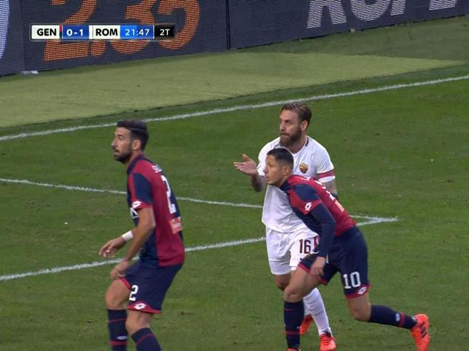 Serie A, Giudice sportivo: due giornate di squalifica a De Rossi