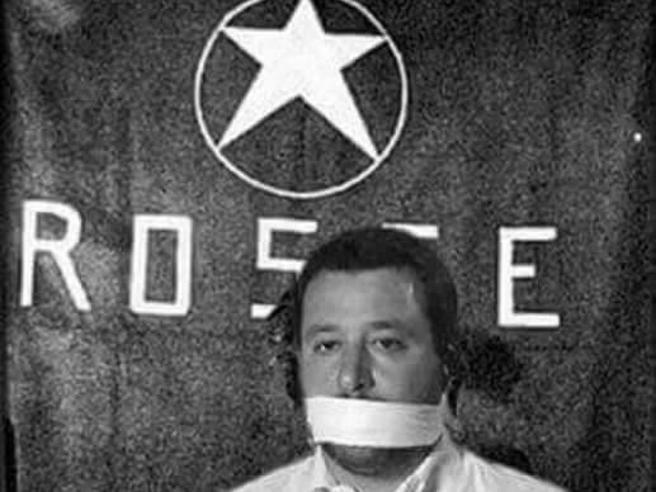 Il fotomontaggio con Salvini   ostaggio  delle Br  Lui: «Li denuncio»