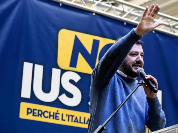 Salvini a Roma contro lo Ius Soli Sit-in per proteggere immigrati