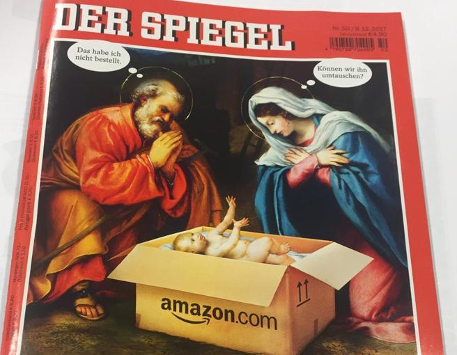 Amazon consegna Gesù Bambino online, polemica su «Der Spiegel»