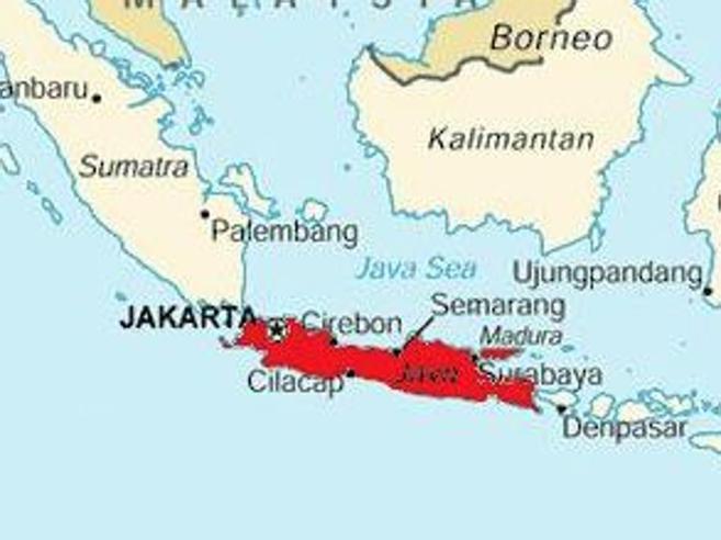 Indonesia: forte terremoto nell'isola di  Giava, magnitudo 6.5 e allerta tsunami