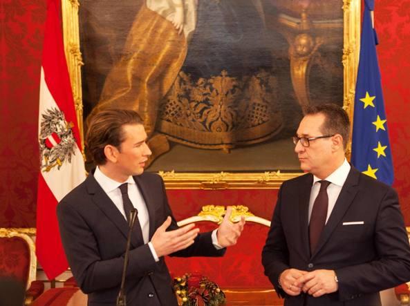 Austria, ecco il governo: alla destra Interni, Difesa e Esteri
