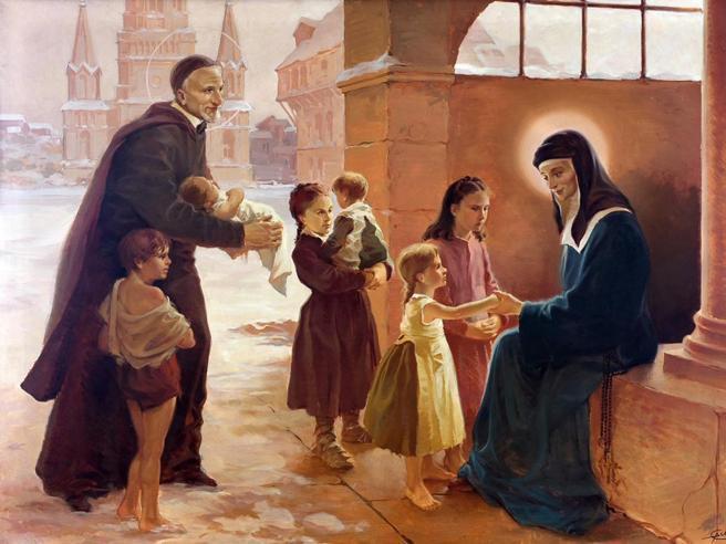 Il San Vincenzo de' Paoli dipinto da Galep, il padre di Tex Willer