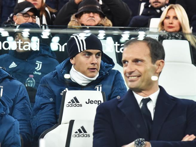 Juventus, Allegri: «Dybala? Difficile giochi. Non posso essere il suo cane da guardia, si gestisca la vita privata»