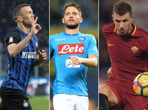 Attaccanti Ivan Perisic 28 anni 3 gol nell'ultima vittoria dell'Inter Dries Mertens 30 attaccante del Napoli a secco da 5 partite Edin Dzeko 31 1 gol per la Roma nelle ultime 8 gare