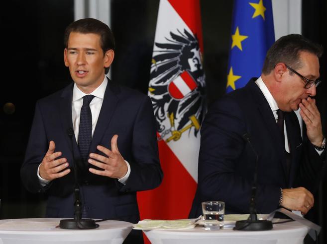 Austria, l'ultradestra inquieta l'Ue  Coro di no al