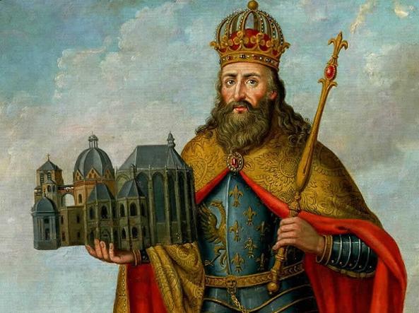 Carlo Magno, re dei franchi, fu incoronato imperatore del Sacro Romano Impero da papa Leone III la mattina di Natale dell'800