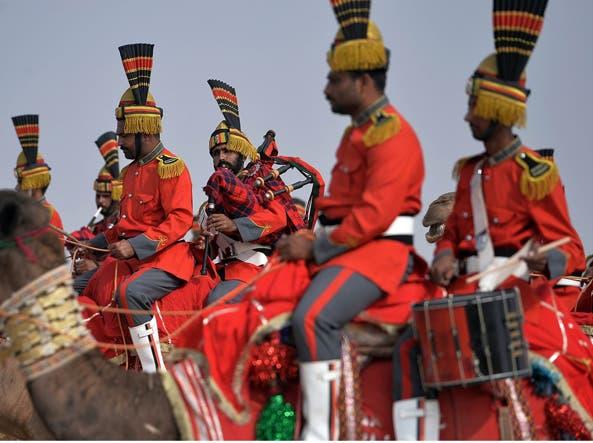 La banda musicale dei Pakistan Desert Rangers