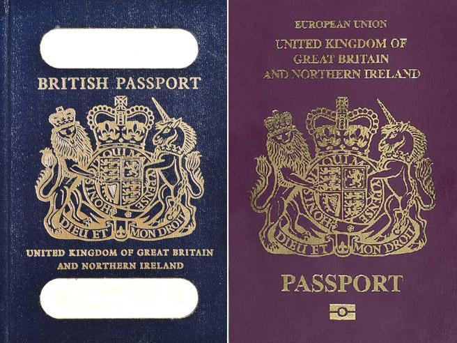 Potere della Brexit: il passaporto inglese torna ad essere blu