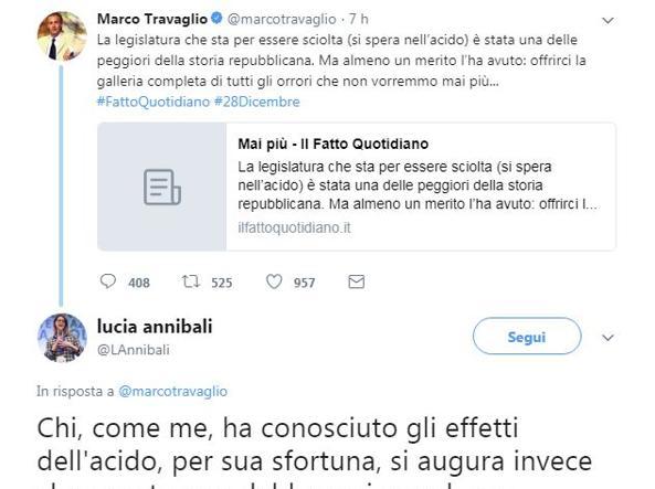Governo: Renzi con Annibali contro Travaglio per frase su acido