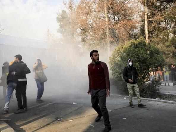 Nell'Iran occidentale è in corso manifestazione a sostegno del governo