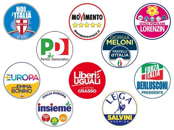 Elezioni 2018 simboli la carica dei loghi con i nomi for Nomi dei politici italiani