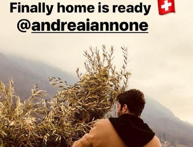 Belen va a vivere in Svizzera con Iannone: «La casa è pronta»