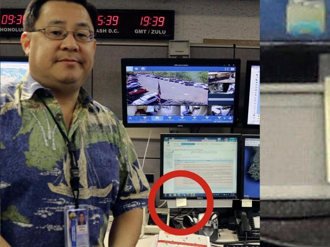 l'Agenzia per l'emergenza e la foto della password su un post-it