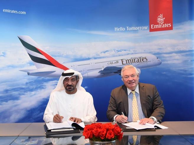Emirates, mega ordine di A380La Regina dei cieli non si estinguerà