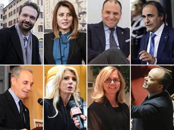 I candidati di Pd, Insieme e M5S