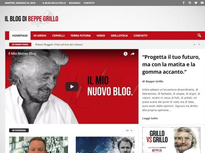 Grillo lancia il nuovo blog, staccato  dal M5S: «Andrò in cerca di folli»|Video
