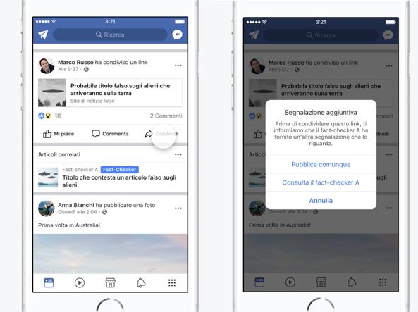 Elezioni, Facebook segnalerà le fake news