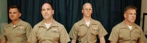 Nella foto i quattro Marines