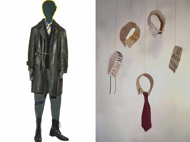 Il guardaroba del «piccolo uomo» va in mostra all'Accademia di Brera. Polsi e colletti delle camicie diventano sculture sospese