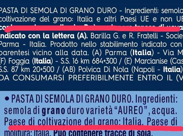 Pasta arriva l etichetta sull origine ma in estate la ue for Da dove proviene il grano della barilla