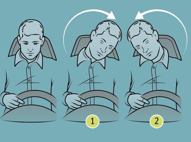 Ginnastica in auto: 13 esercizi di stretching per battere il mal di schiena al volante