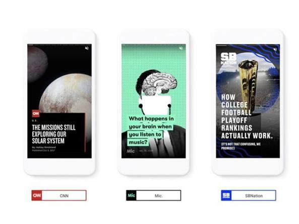Google aggiunge la funzione storie alle pagine AMP