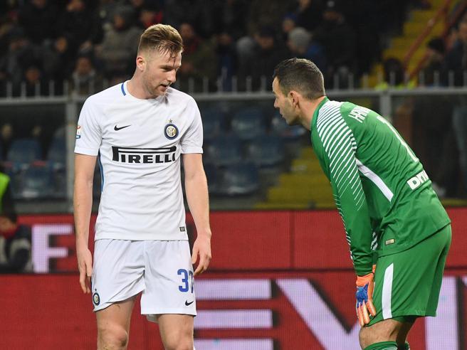 Genoa-Inter 2-0, Skriniar-Ranocchia, che carambola! Pandev chiude i conti, sprofondo nerazzurro