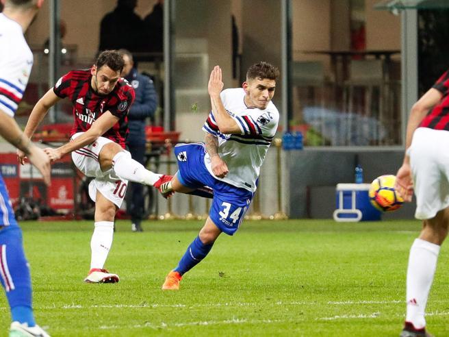 Milan-Sampdoria 1-0, pagelle rossonere: Calhanoglu maiuscolo, Montolivo buona prestazione