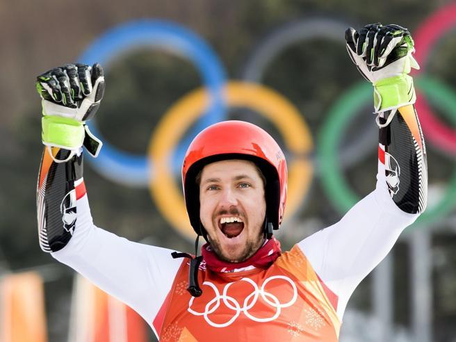Olimpiadi 2018: sci, Hirscher vince anche il gigante, azzurri sogni svaniti