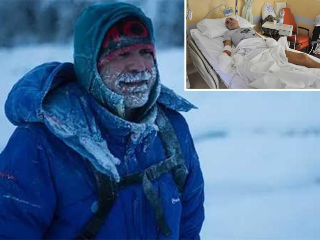 L'ironman congelato  in Canada: la lotta per salvargli mani e piedi