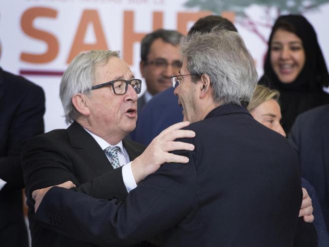 Gentiloni: Ue, lavoro comune contro i populisti. Juncker: su Italia frainteso