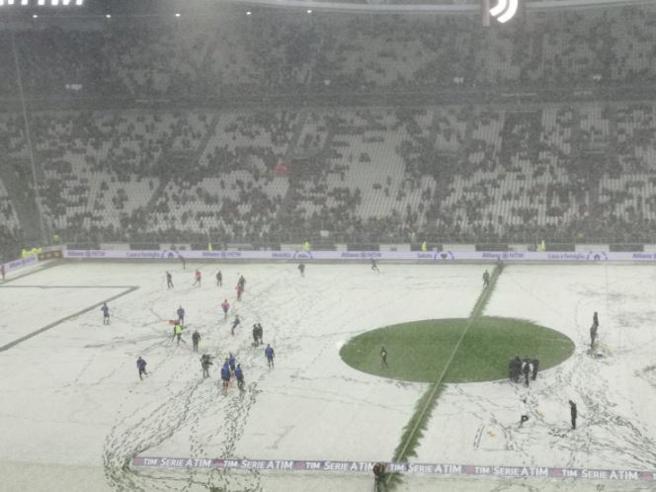 Serie A, Juventus Atalanta a rischio rinvio per neve, si dec