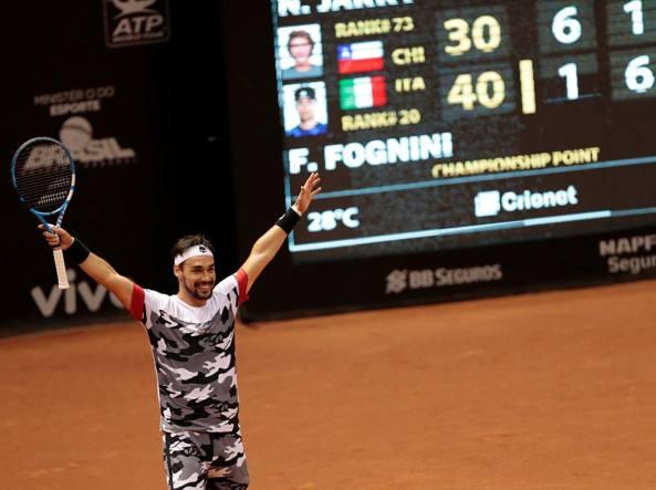 Fognini in semifinale a S.Paolo battuto lo spagnolo Garcia Lopez