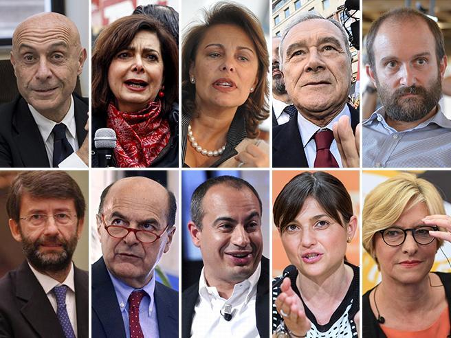 Boldrini, Bersani, Fedeli  e gli altri: i big ripescati Formigoni, Lotito e Civati:  chi resta fuori